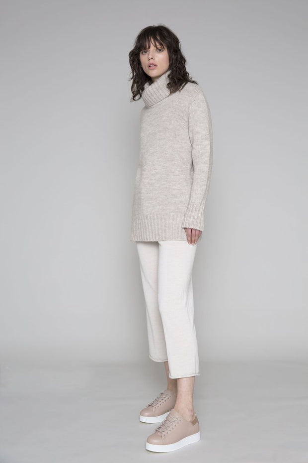 Standard issue funnel neck jumper nz knitwear cotton stockists auckland shop now