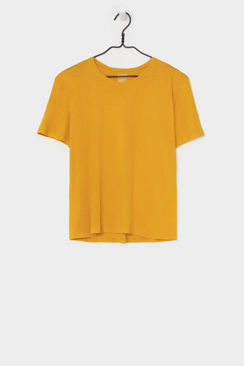 Kowtow building block crew neck tee marigold organic fairtrade cotton parnell auckland stockists nz designer