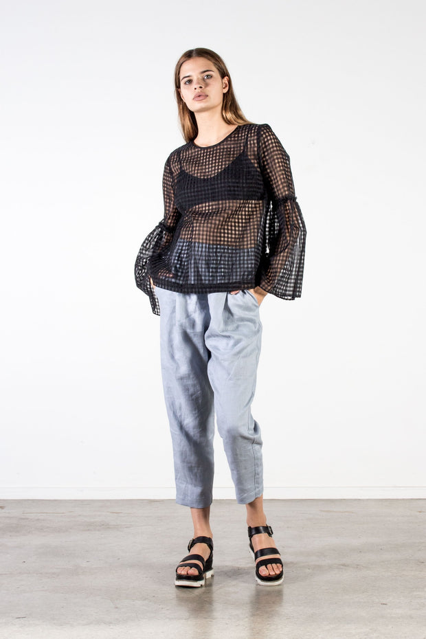 None siena Sienna top black check summer tops nz made New Zealand fashion nine stockists shop Auckland online parnell