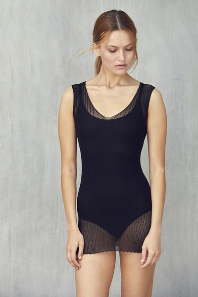 standard issue cotton tulle singlet mesh fine knit new zealand knitwear made in NZ designer stockists