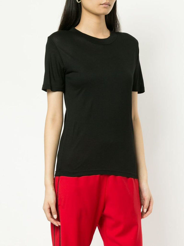 Wynn Hamlyn Stockists Harris T Shirt Black Cotton Silk NZ Made NZ Designer