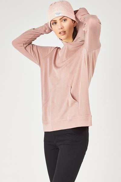 Huffer Merino chill hoodie in Pink stockists nz designer clothing laybuy buy new zealand design laptop case shop online