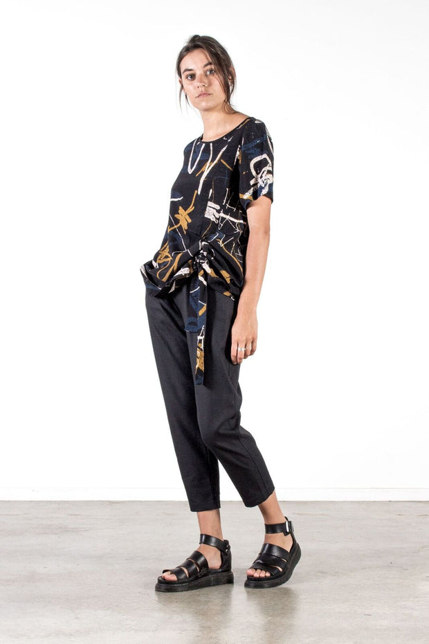 Nyne Manila Top Print NZ Designer Clothing Shop Made in New Zealand Stockist shops auckland parnell