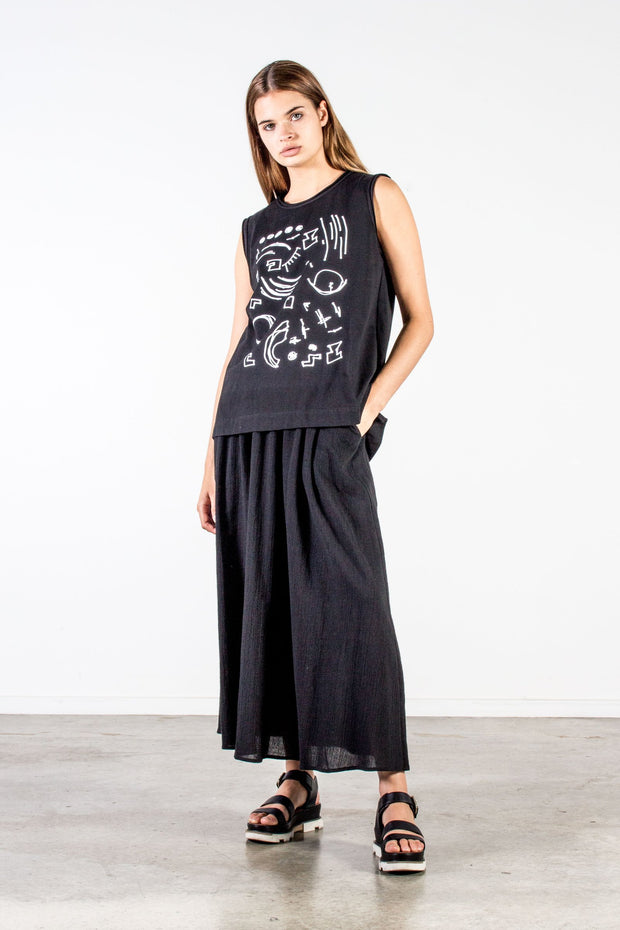 nyne marnie singlet juno print nz fashion made in new zealand ethical fashion shop online or at our Parnell store