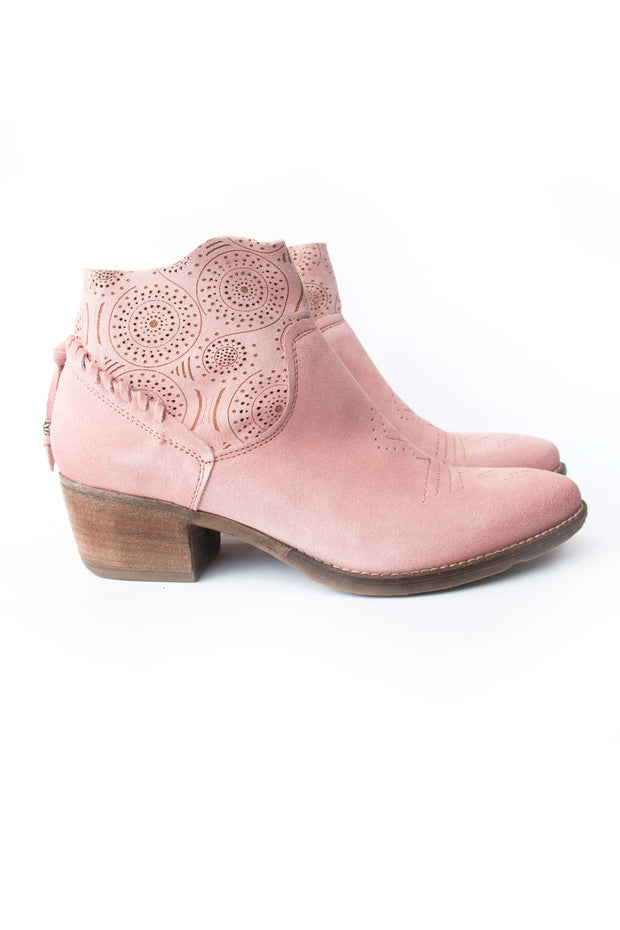 Martina Pink Ankle boots Suede Italian Made Shoes New Zealand Stockists Summer boots