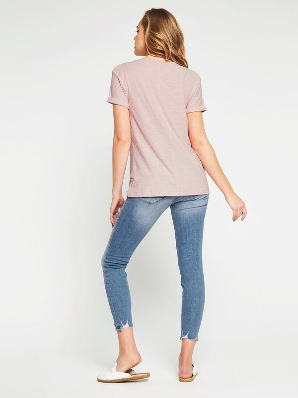 Mavi stockists Evie Washed Rose T Shirt Australian Designer !00% Cotton