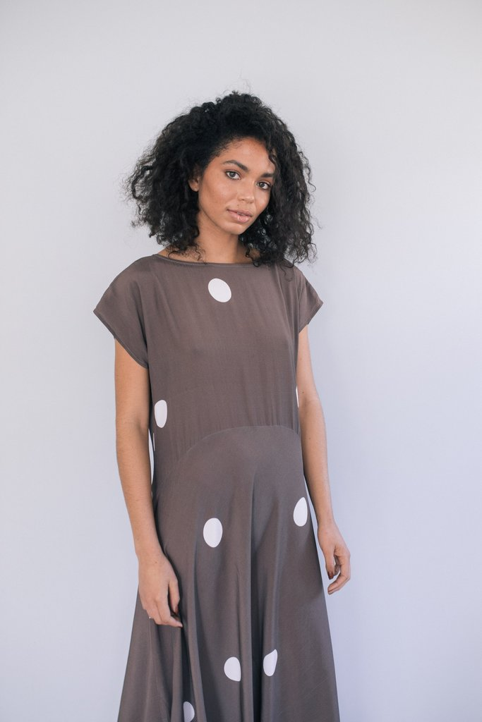 staple and cloth solstice dress nz made new zealand designer clothing stockists parnell