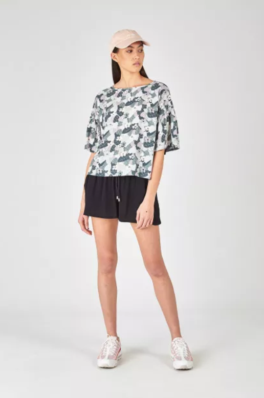 Huffer Daria Frill Top Urban Cuban stockists nz designer clothing laybuy buy new zealand design shop online