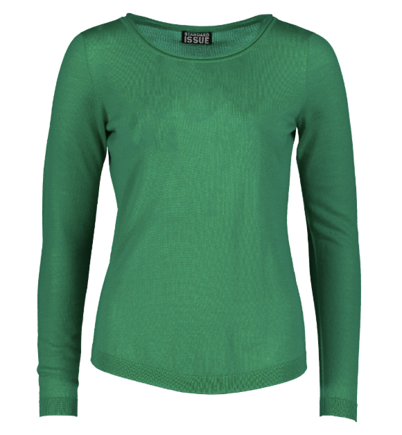 standard issue roll trim sweater 100% merino NZ made NZ fashion NZ designer clothing winter
