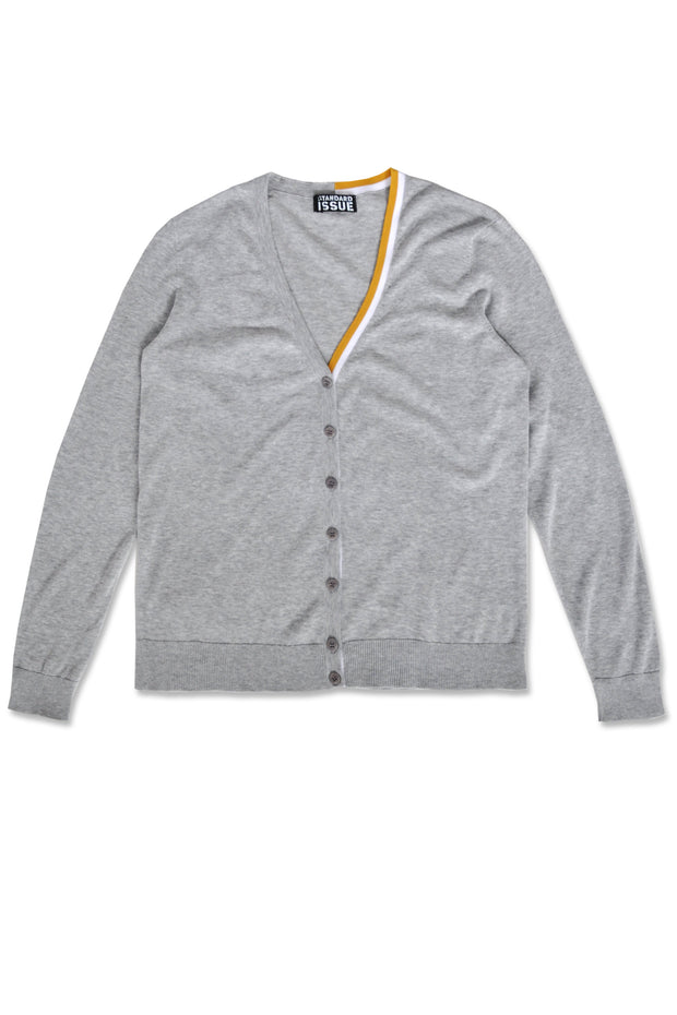 Standard Issue COntrast Cardi Knitwear Stockists Auckland Made in New Zealand NZ Designer Clothing