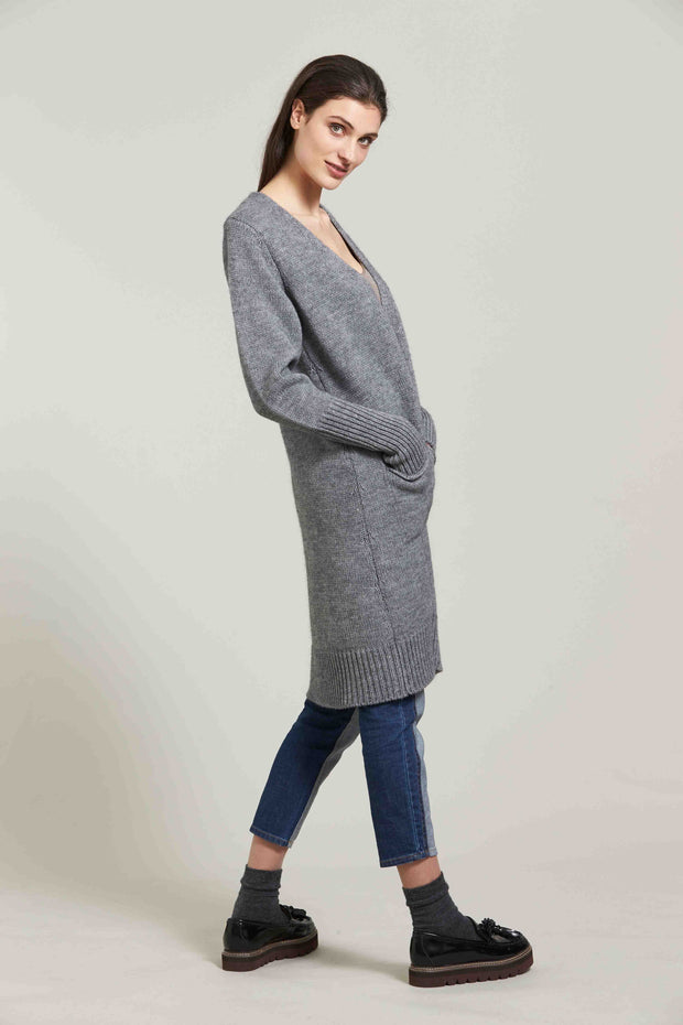 Standard Issue Alpaca Coat Longline Chunky Knit Cardi Knitwear Stockists Auckland Made in New Zealand NZ Designer Clothing