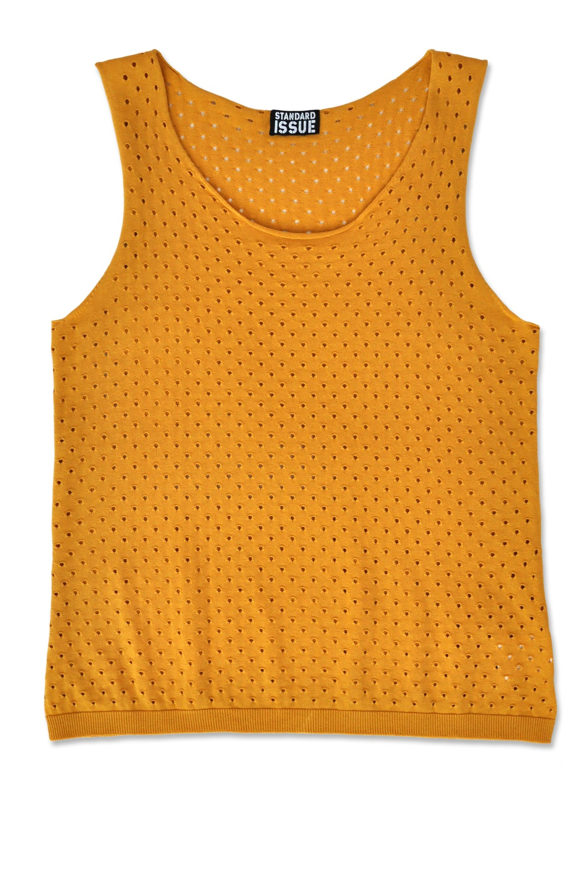 Standard Issue mesh singlet Multi styles Knitwear Stockists Auckland Made in New Zealand NZ Designer Clothing