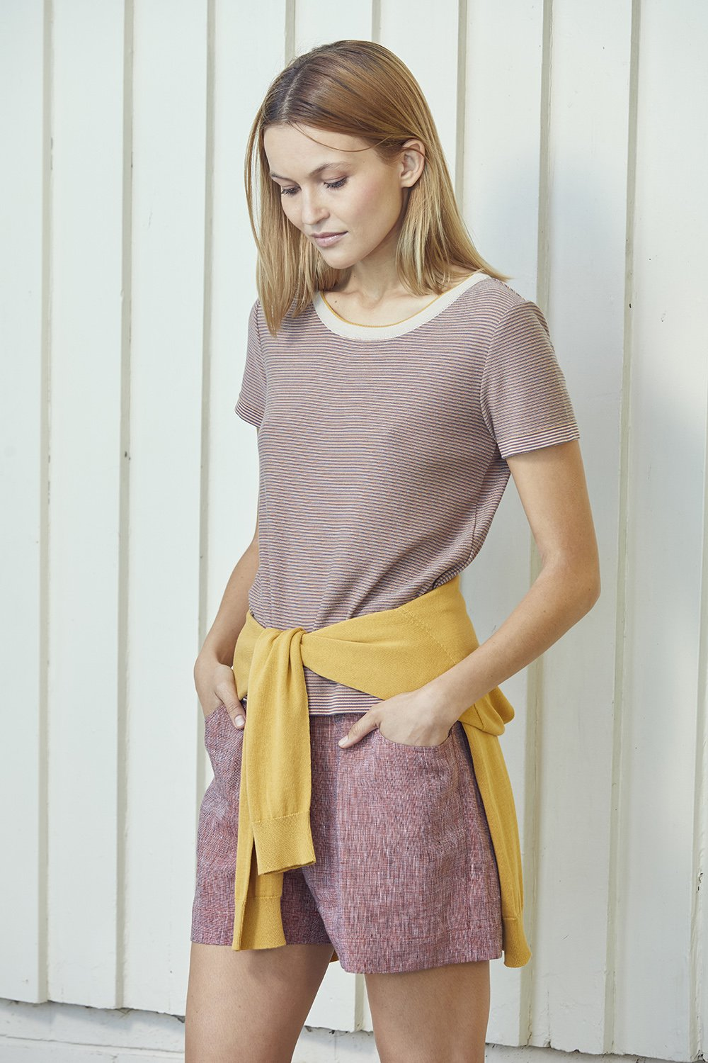 Standard Issue multi tee Knitwear Stockists Auckland Made in New Zealand NZ Designer Clothing
