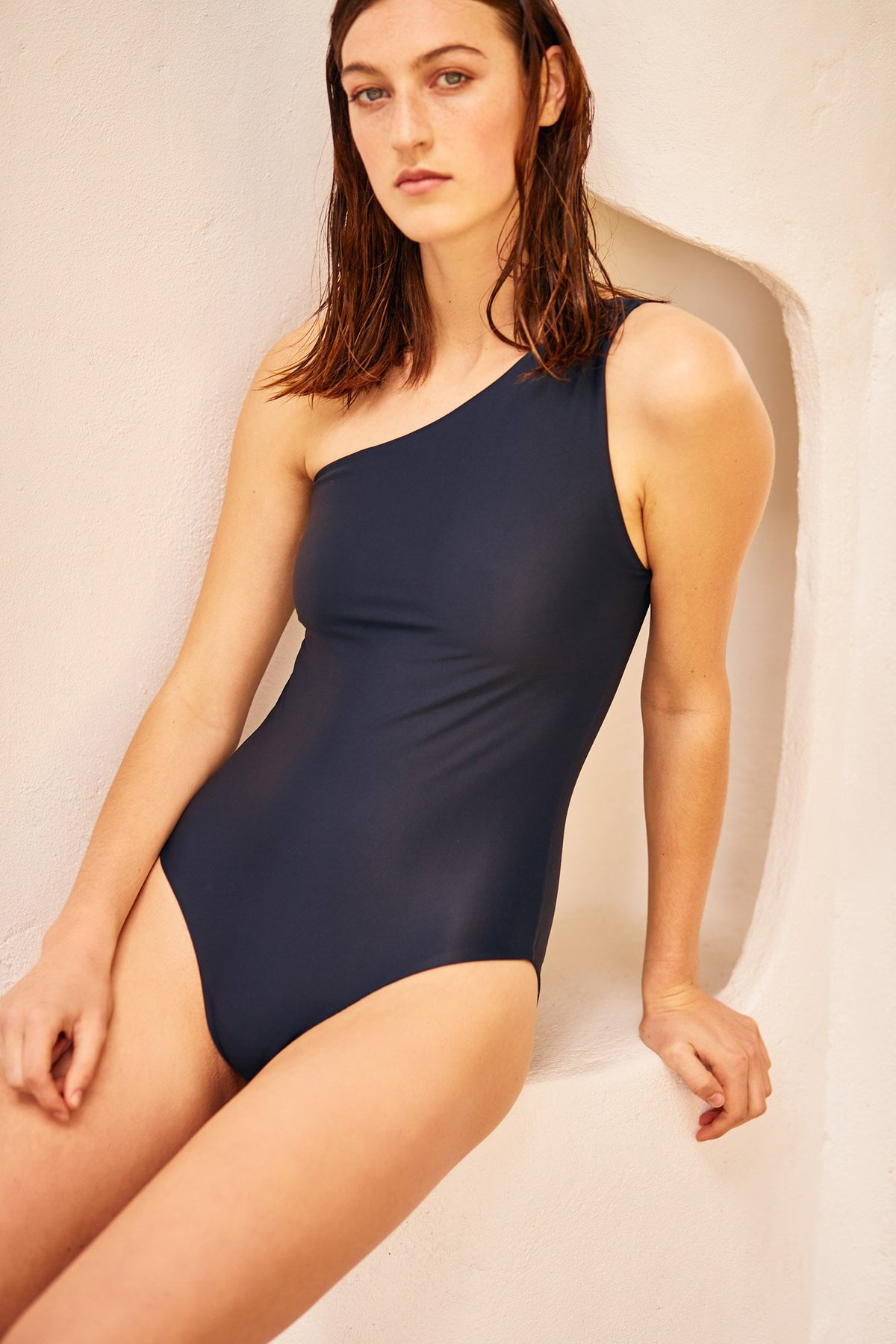 Kowtow stockists Swimwear Asymmetric one piece Organic Fairtrade Ethical Ponsonby Parnell