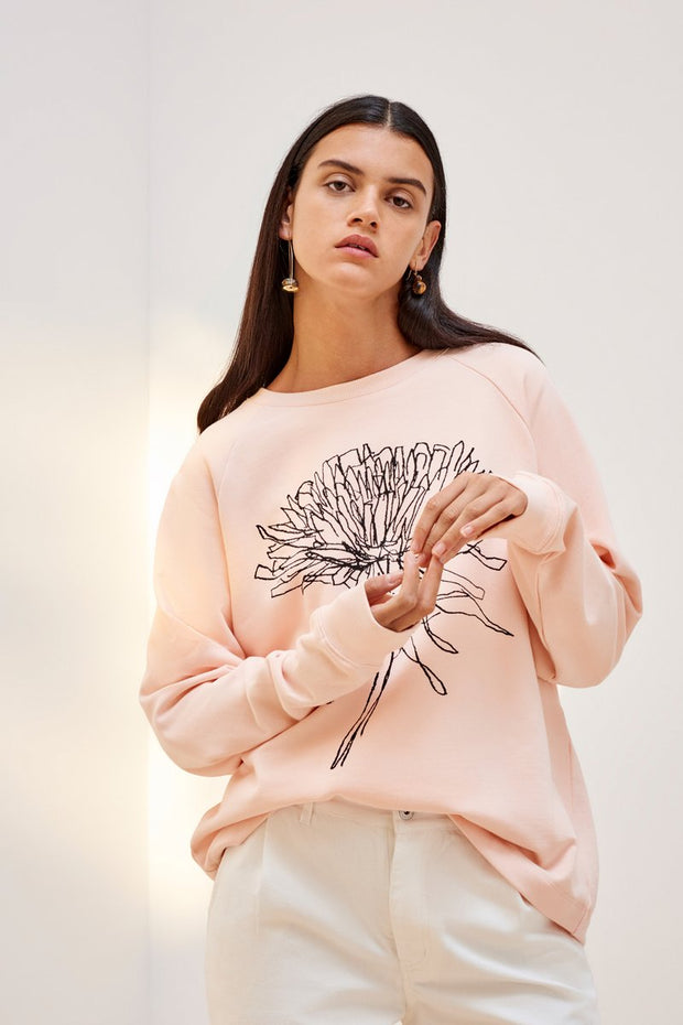 kowtow building dandelion crew in light pink ethical organic fairtrade cotton shop online or at our Parnell store