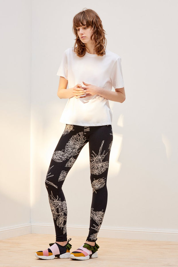 kowtow building block dandelion leggings in black ethical organic fairtrade cotton shop online or at our Parnell store