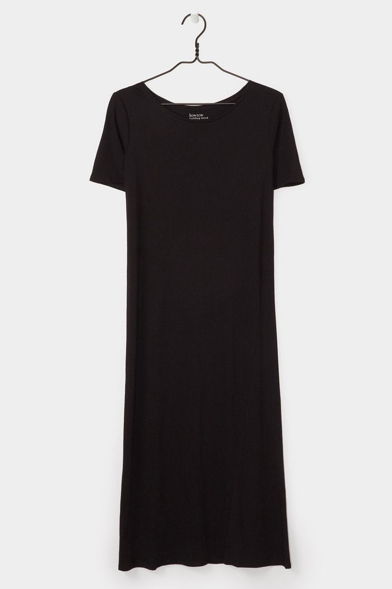Kowtow stockists building block tee shirt dress relaxed fit pink black Organic Fairtrade Ethical