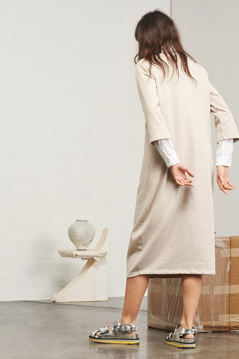 BUILDING BLOCK V NECK SWEATER DRESS