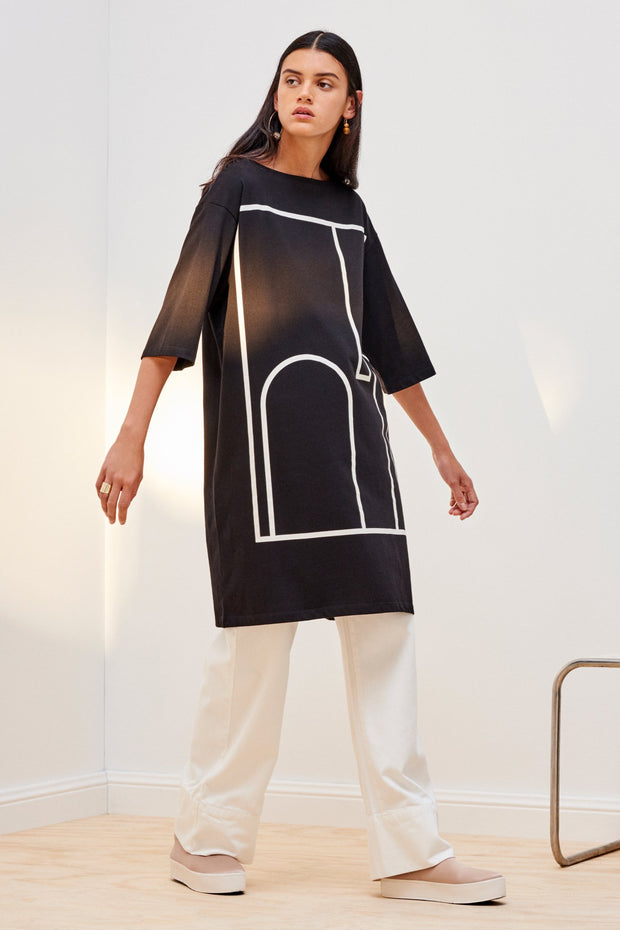 Kowtow stockists Wall dress print Organic Fairtrade Ethical cotton stockists auckland parnell