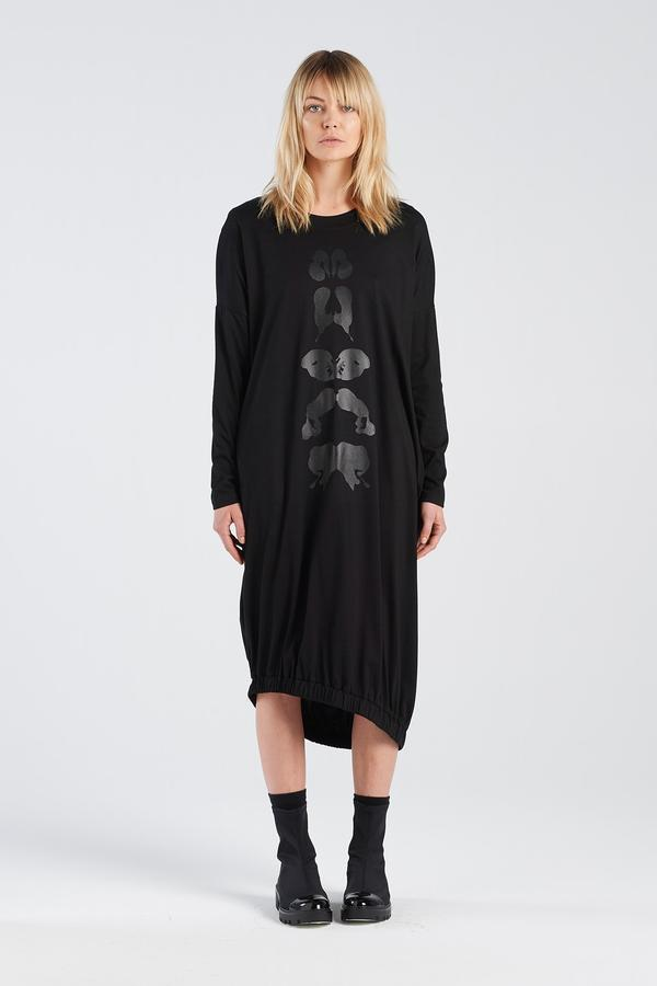 Binet dress klex Nyne Jumper dress Black NZ made New Zealand made NZ designers Locally made Auckland Parnell