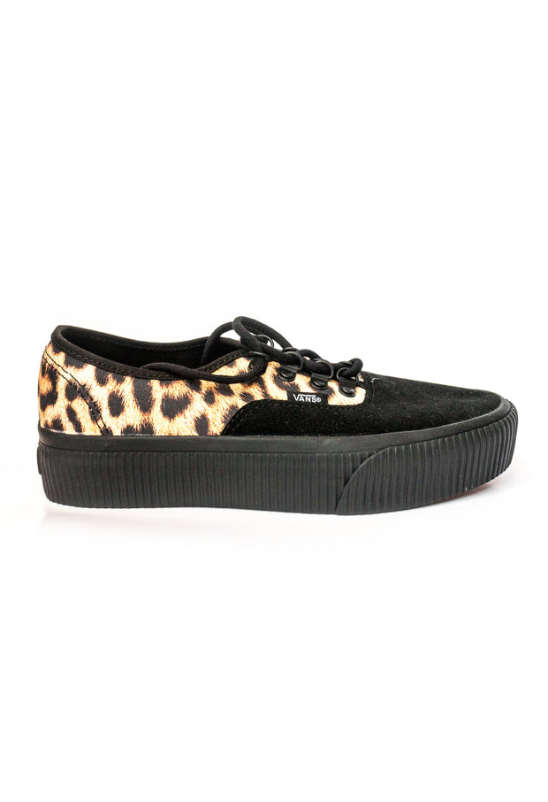 9a9dba8a66 Authentic Platform Black and Leopard Print Canvass Vans Stockists New  Zealand Buy Online Vans Skate Shoes