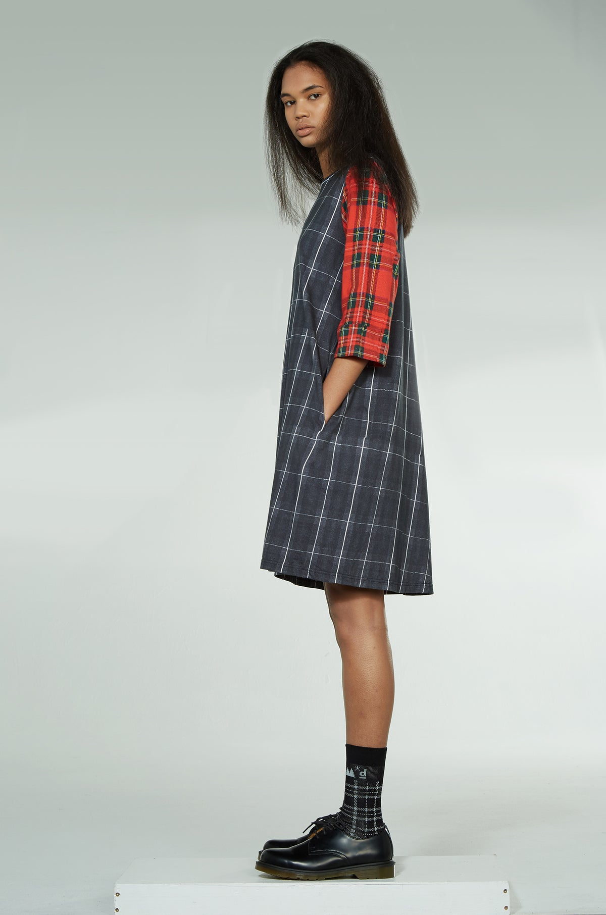 Clan Tartan Tunic Nom*d Stockists Shop Online Made in New Zealand NZ Designer Clothing Auckland Parnell Nom d archive Summer 2017