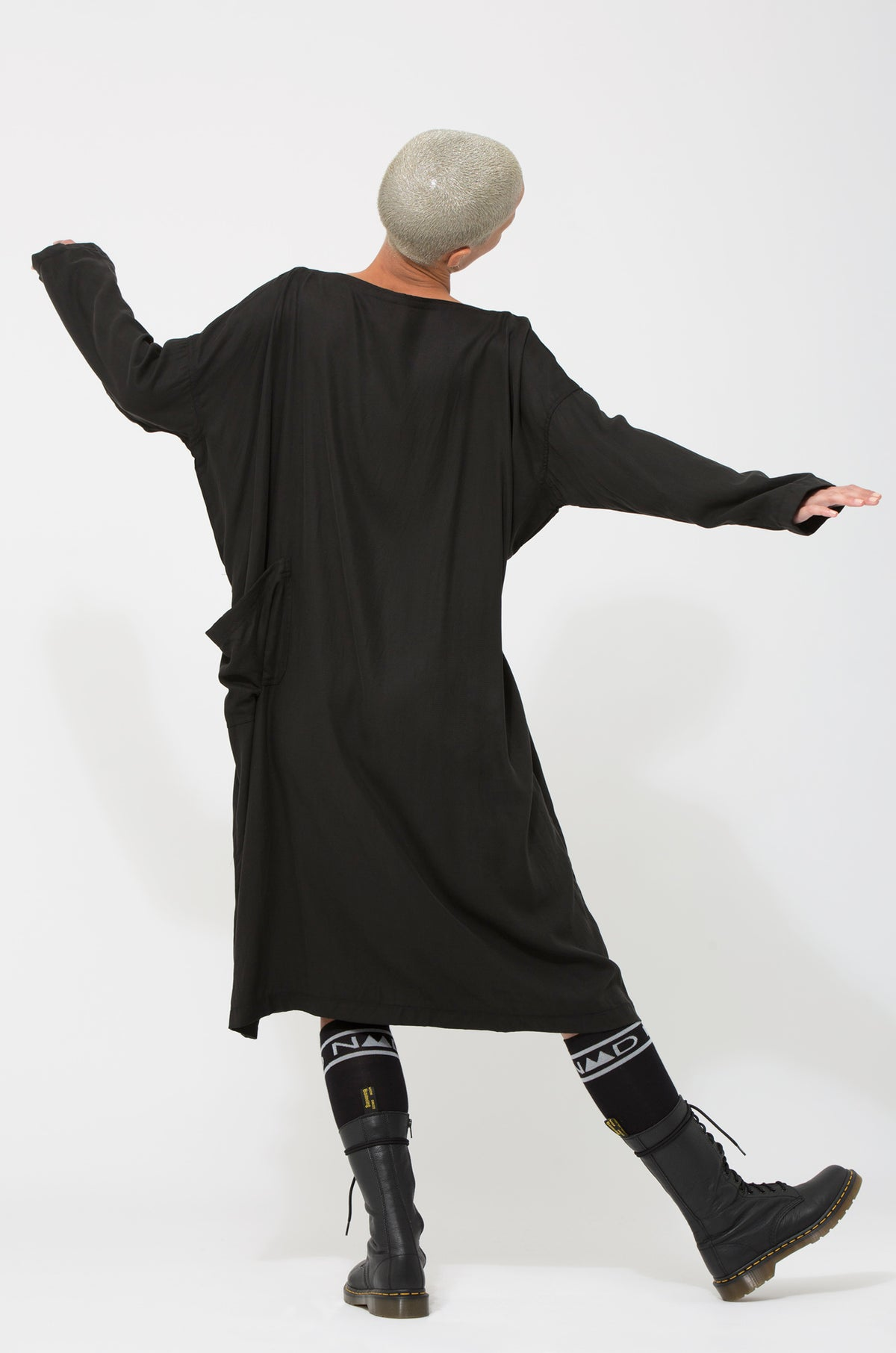 Nom*d Cordon Dress Black Shop Online Made in new Zealand NZ Designer Clothing Stockists Auckland Shop Online Parnell Nom d Nomd Dunedin Fashion