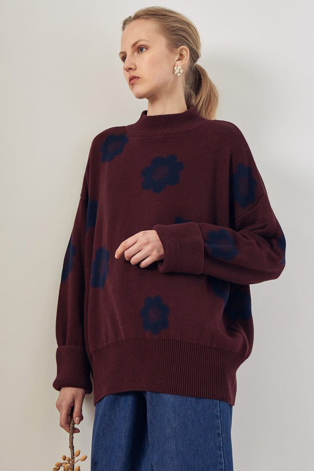 Kowtow daisy jumper oversized organic cotton ethical auckland stockist