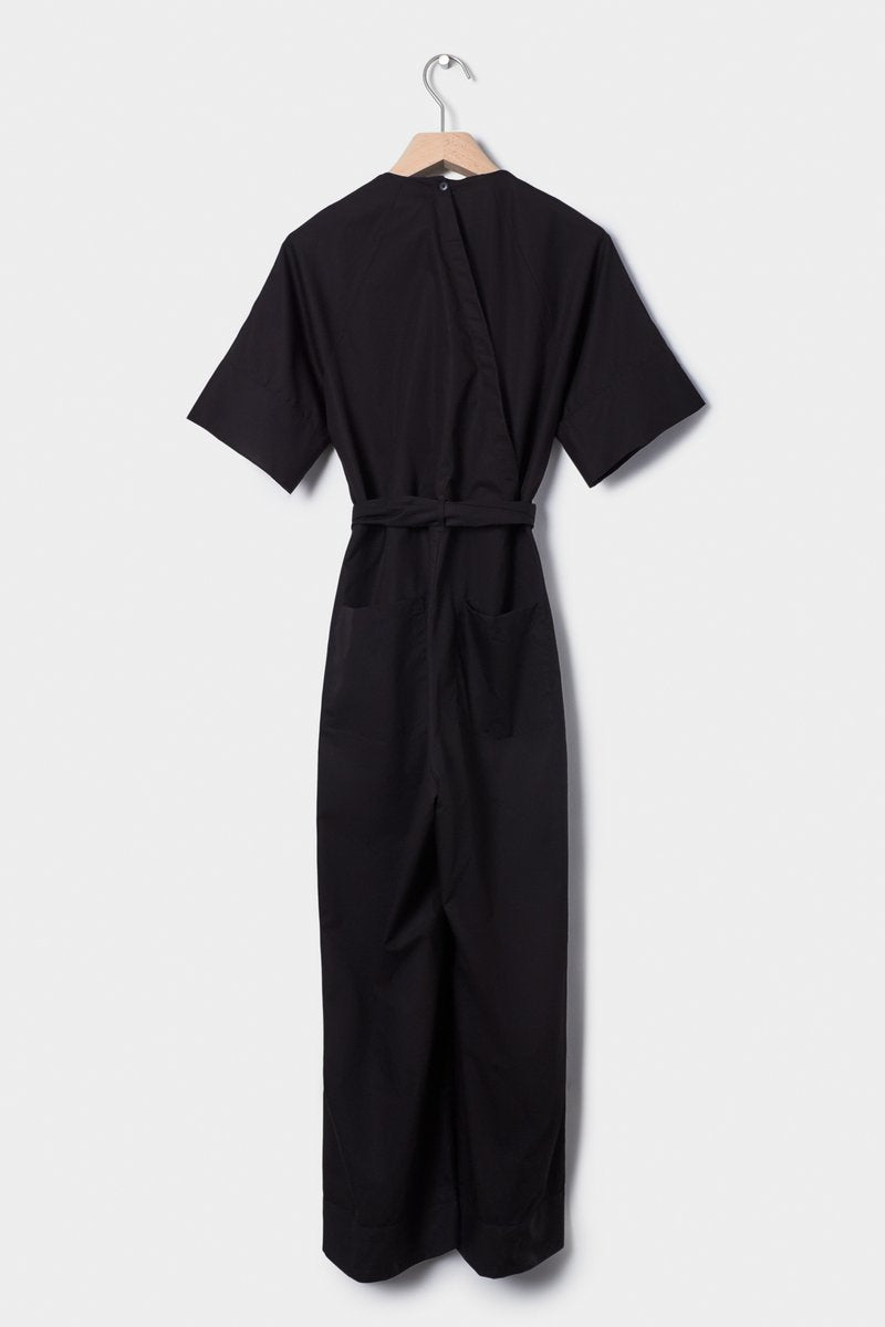 Kowtow stockists Derby Jumpsuit in Black Organic Fairtrade Ethical Cotton Stockists Auckland Parnell