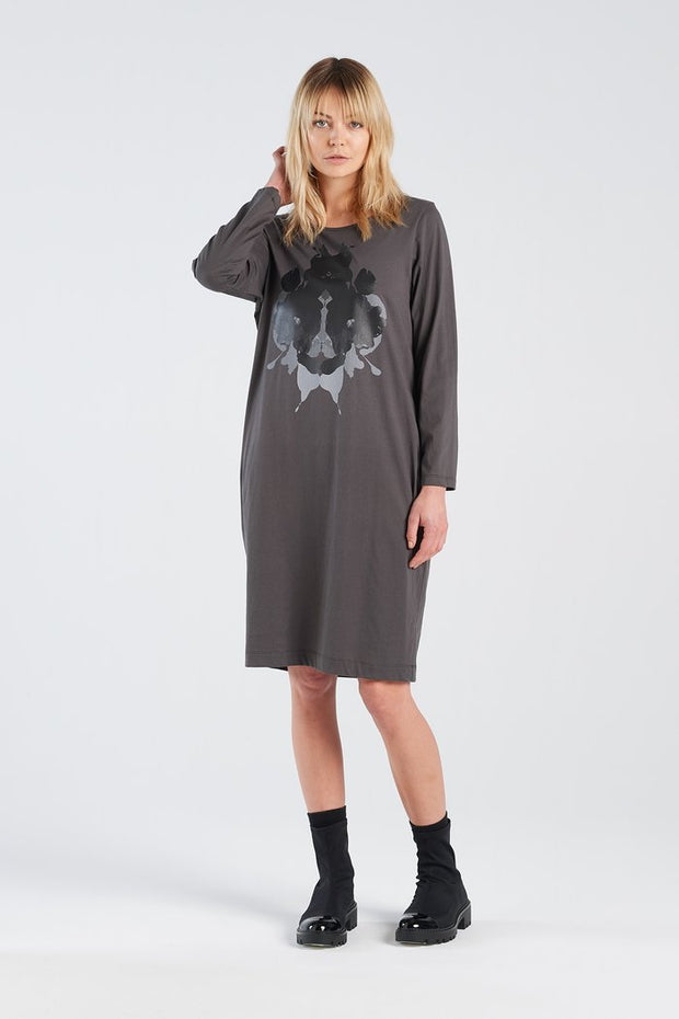 Nyne Distant Dress New Zealand Designer clothing NZ Made Custom Print