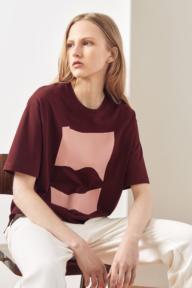 Kowtow stockists Dream Tee Wine Organic Fairtrade Ethical
