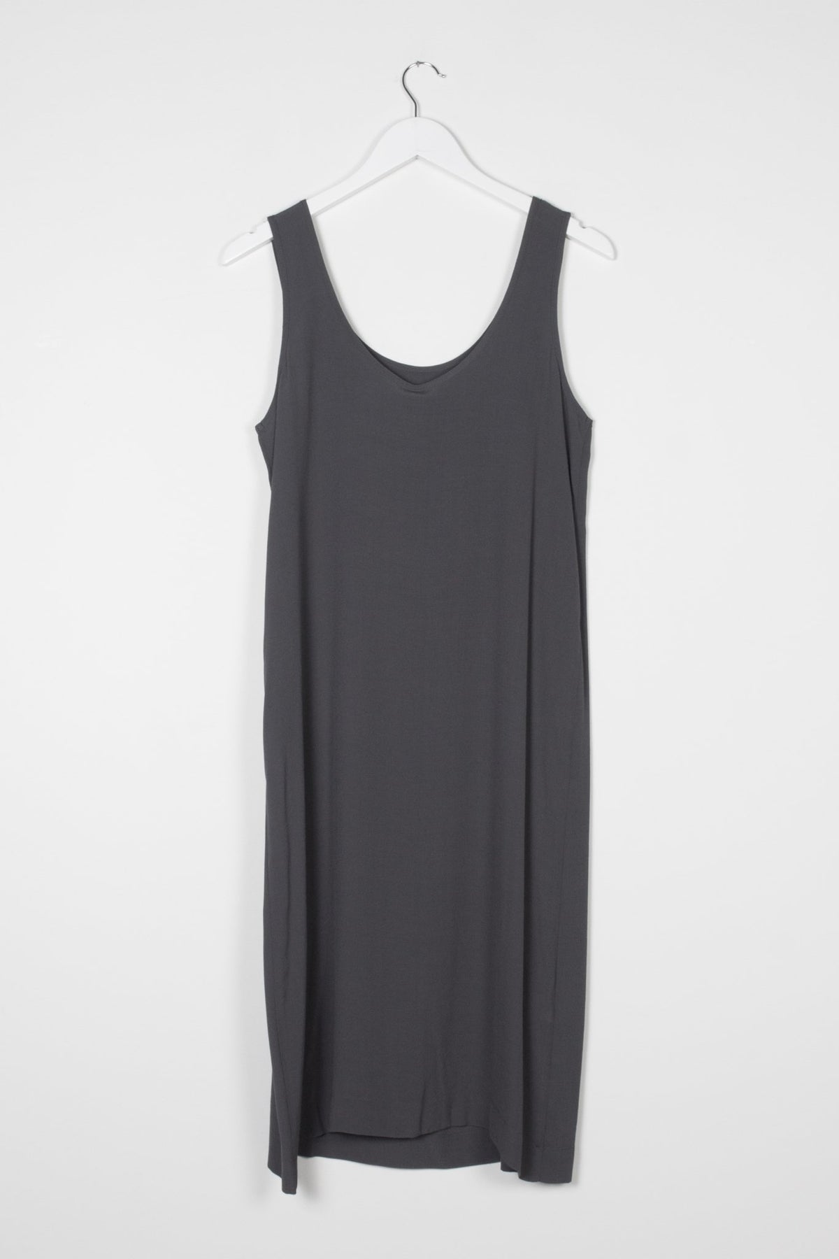 Nyne Ollie Dress Charcoal Made in New Zealand NZ Designer Clothing Stockists Auckland Parnell