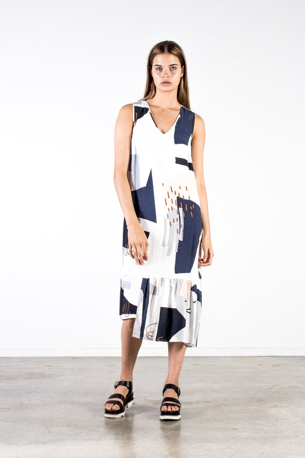 Nyne kalla dress oslo print NZ Designer Clothing Shop Made in New Zealand Stockist shops auckland parnell
