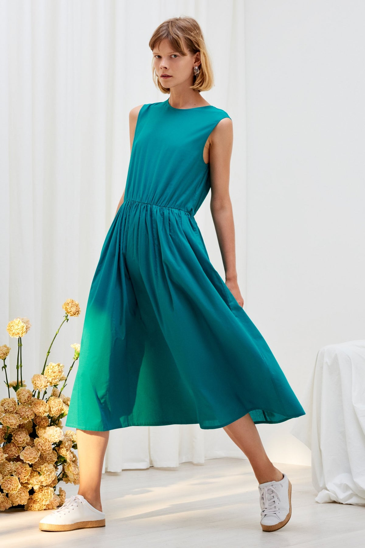 Kowtow stockists Echo Dress Emerald Organic Fairtrade Ethical