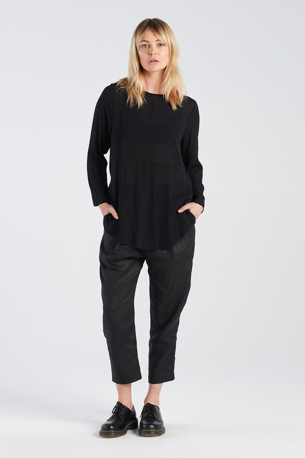 Freudian Longsleeve Nyne sheer black NZ designer NZ made New Zealand made ethical clothing NZ fashion