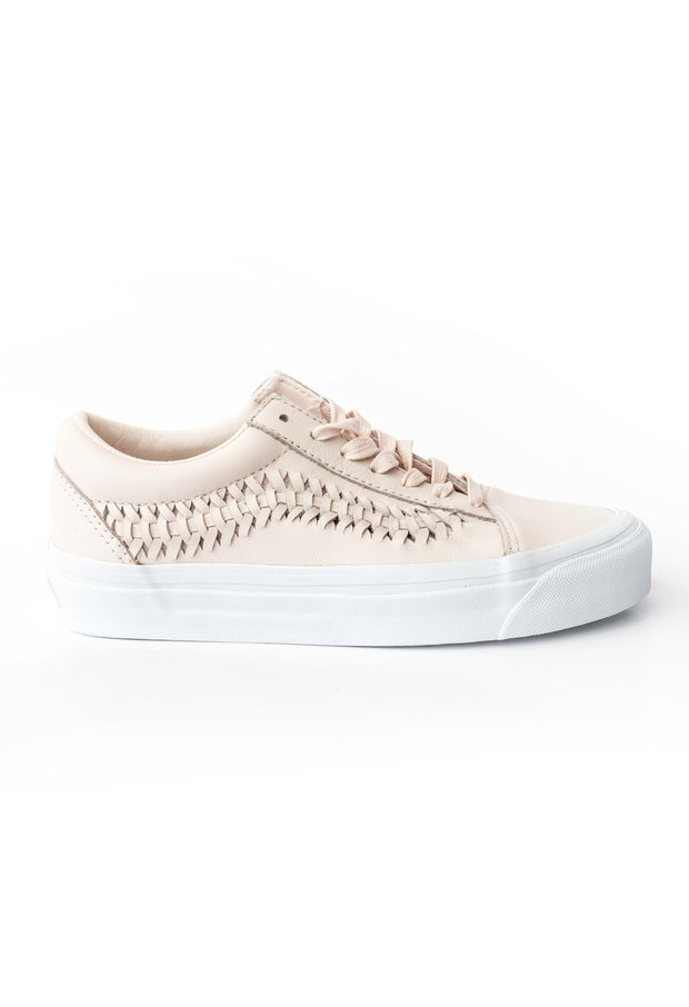 Old Skool Weave Pink Leather Vans Stockists New Zealand Buy Online Vans Skate Shoes Street Lace up Sneakers