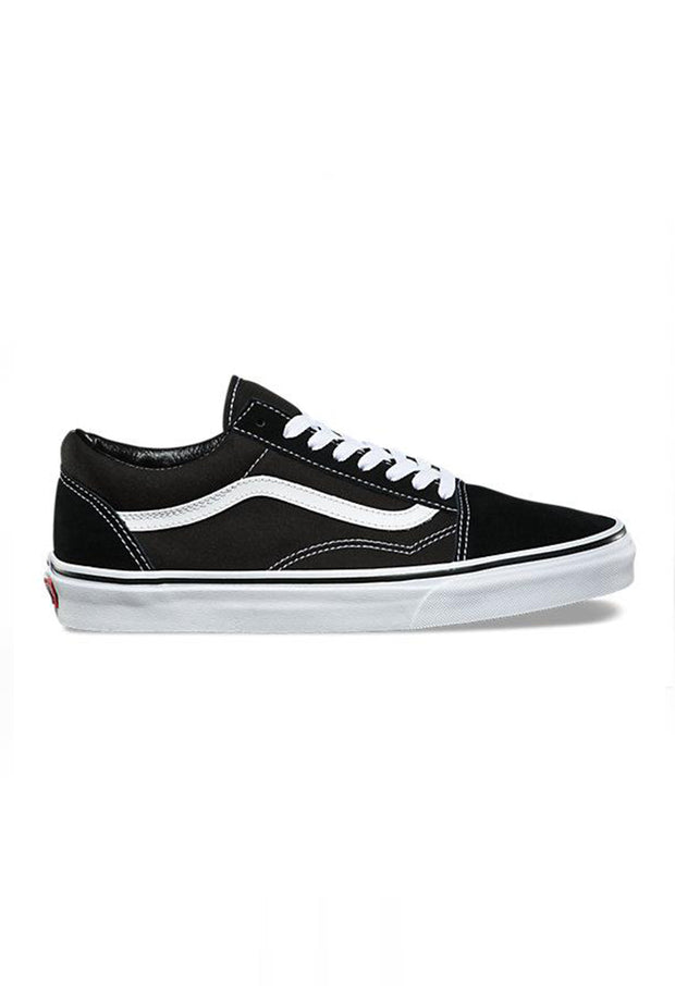 2b0bb82a05 Old Skool black with white Vans Stockists New Zealand Buy Online Vans Skate  Shoes Street Lace