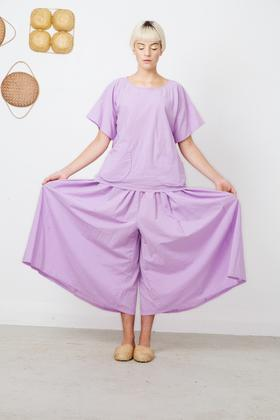 otsu magic Garnet Lilac Wide Leg Pant stockists wellington auckland Parnell Ponsonby Made in New Zealand Japanese Inspired NZ Fashion