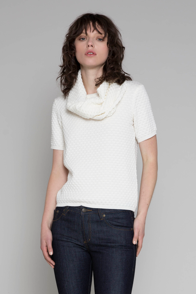 Standard issue raindrop snood scarf nz knitwear cotton stockists auckland shop now