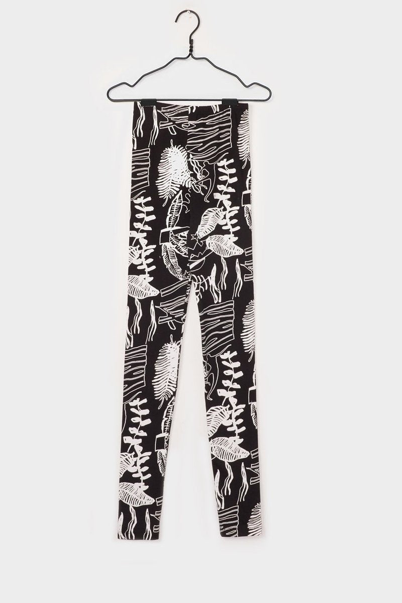 Kowtow studio ritual print leggings ethical organic fairtrade cotton stockists shop online parnell