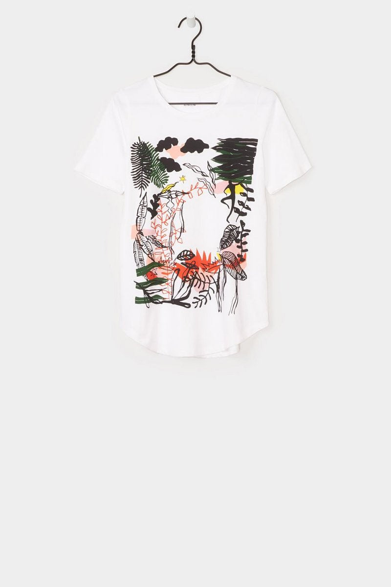 Kowtow stockists ritual print tee white Organic Fairtrade Ethical