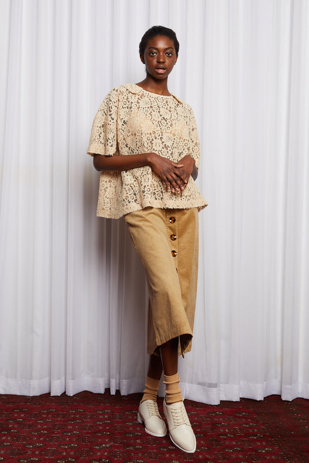 Story line shift top salasai lace cream caramel NZ fashion NZ designer ethical clothing