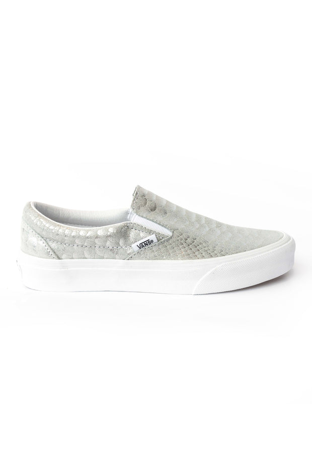 803abed312 Classic Slip On Silver Suede Metallic Snake Skin Vans Stockists New Zealand  Buy Online Vans Skate
