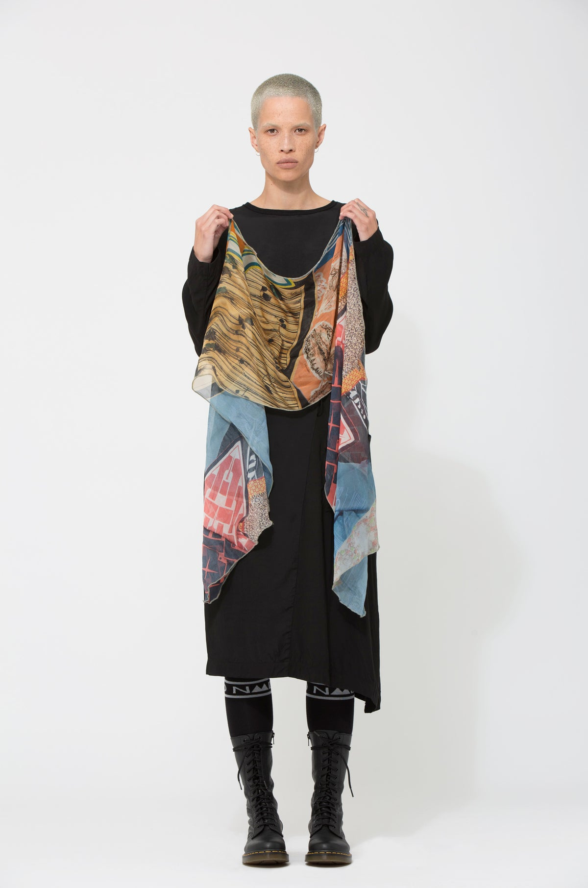 Nom*d Skinny Tie Printed Silk Scarf Shop Online Made in new Zealand NZ Designer Clothing Stockists Auckland Shop Online Parnell Nom d Nomd Dunedin Fashion