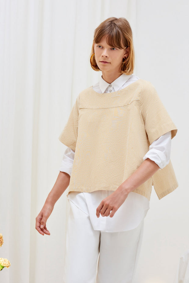 Kowtow stockists Tidal Top Mustard Stripe Organic Fairtrade Ethical