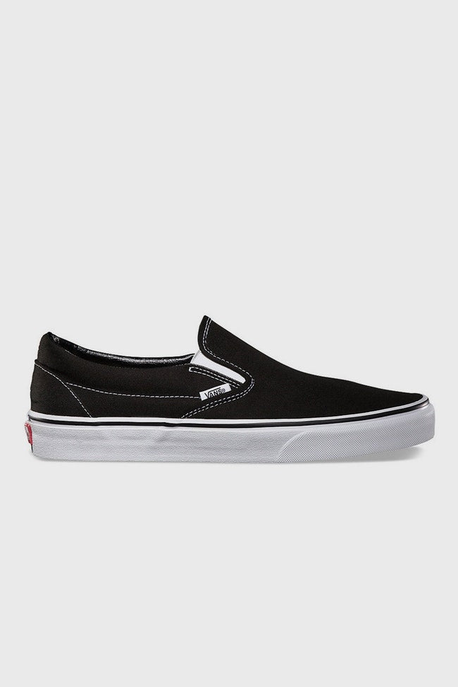 Vans Stockists New Zealand Buy Online Classic Slip On Black and White Canvass Vans Street Lace up Sneakers