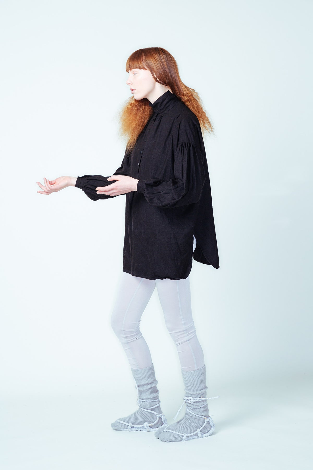 Lela Jacobs Worker Shirt black linen new zealand made auckland stockist