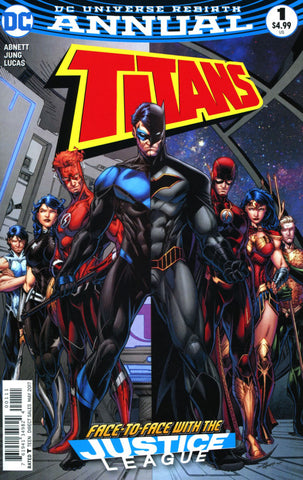 Titans Annual #1 (face to face with the Justice League)