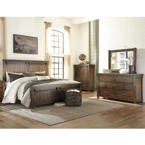 Bedroom Set B comes with Wardrobe, Bed, Dresser, Side table - Cartbibi