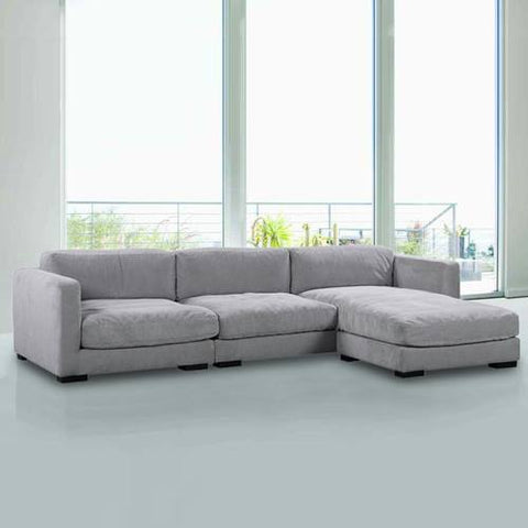 A Sofa 3 SEATER + L STOOL SOFA SET - Cartbibi